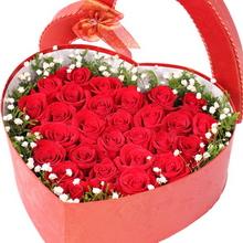 33枝紅玫瑰,滿天星、黃鶯外圍