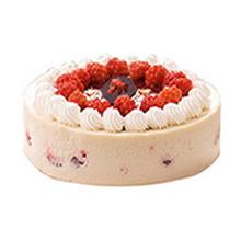 圓形芝士蛋糕,鮮奶裱花圍邊,水果裝飾圍圈(提前24小時預定)