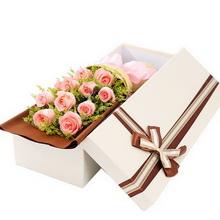 11朵戴安娜粉玫瑰,黄莺间插