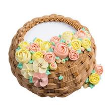 圓形栗子蓉夾心水果蛋糕,水果夾層,,鮮奶裱花