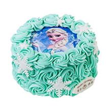 圓形數碼蛋糕,水果夾層,數碼圖案(可另提供圖片),鮮奶裱花鋪面