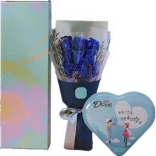 藍玫瑰,情人草間插;98克德芙心語盒裝巧克力(款式以實際購買為準)