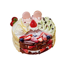 個性裸蛋糕(抹茶+咖啡+檸檬+巧克力4種口味蛋糕胚)