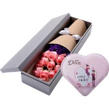 粉玫瑰,勿忘我點綴;98克德芙心語盒裝巧克力(款式以實際購買為準)