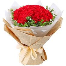 21支精品紅玫瑰,搭配適量白相思梅