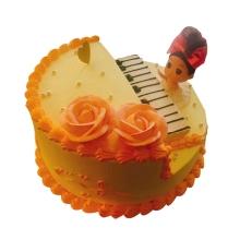 鋼琴造型蛋糕,水果夾層