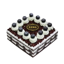 方形藍莓巧克力慕斯蛋糕,巧克力胚,藍莓裝飾