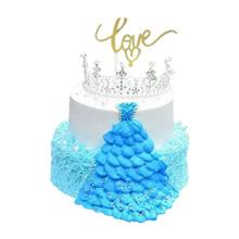 12寸+8寸双层皇冠蛋糕,水果夹层,皇冠搭配,鲜奶裱花装饰(皇冠装饰已店里为准)