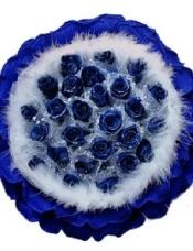 19朵蓝玫瑰花束