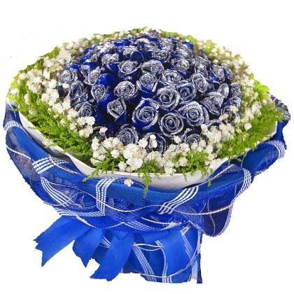 099枝玫瑰花/蓝玫瑰