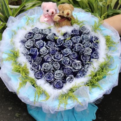 33枝玫瑰花/蓝玫瑰