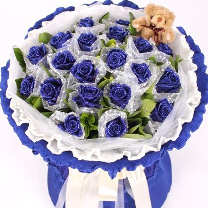 19枝玫瑰花/蓝玫瑰