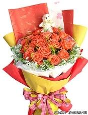 19枝粉红色玫瑰,5