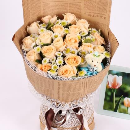 19枝玫瑰花/香槟玫瑰