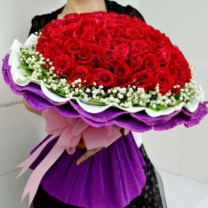 099枝玫瑰花/红玫瑰