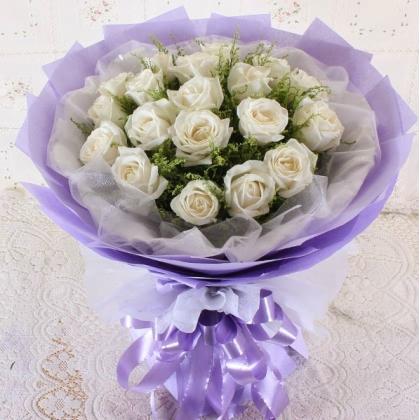 19枝玫瑰花/白玫瑰