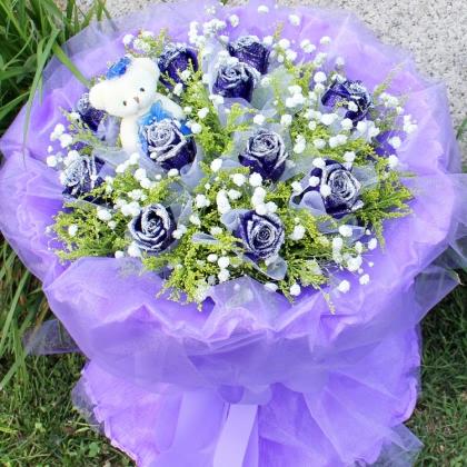 11枝玫瑰花/蓝玫瑰