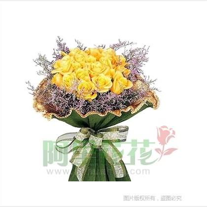 16枝玫瑰花/黄玫瑰