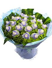 白玫瑰21支,八卦草,绿豆,龟背叶