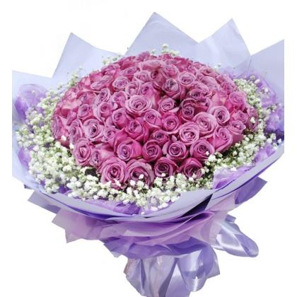 099枝玫瑰花/紫玫瑰