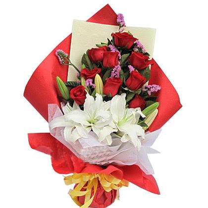 09枝玫瑰花/红玫瑰