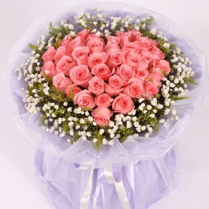 33枝玫瑰花/粉玫瑰