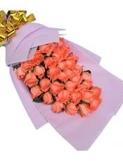 粉玫瑰33枝。