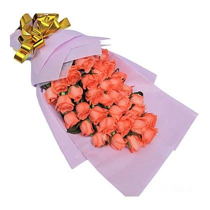 33枝玫瑰花/粉玫瑰图片