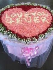 粉红白玫瑰共999朵玫瑰花,满天星黄莺外围,高档精美包装.