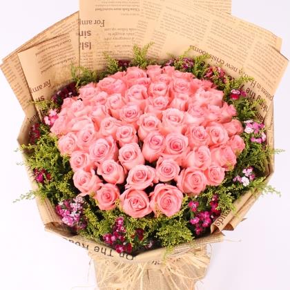 66枝玫瑰花/粉玫瑰