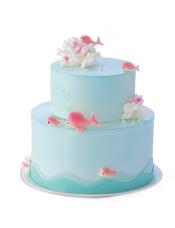 6寸+4寸双层好利来蛋糕,原味戚风蛋糕+巧克力果仁脆夹心