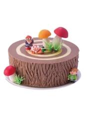 巧克力蛋糕+黑樱桃果冻夹心+巧克力奶油