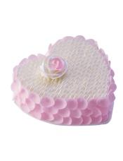 8寸18cm,10寸23cm心形蛋糕,原味戚风蛋糕+玫瑰慕斯夹心