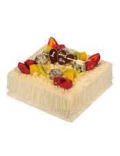18cm蛋糕,果仁蛋糕+乳脂奶油