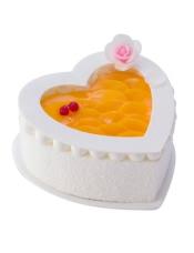 18cm心形蛋糕,原味戚风蛋糕+酸奶提子夹心