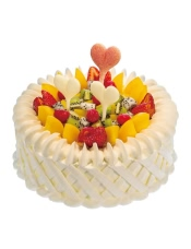原味戚�L蛋糕+酸奶提子�A心