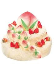12+25+35cm三层蛋糕, 原味戚风蛋糕+酸奶提子 宛如蟠桃胜会的贺寿蛋糕,令老寿星尽享子孙满堂, 天伦之乐;