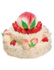 10+20+30cm三层蛋糕, 原味戚风蛋糕+酸奶提子夹心 健康营养食材精致而成的祝寿蛋糕,将子女心中的感恩与祝福用美味传达;
