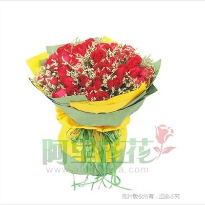 56枝玫瑰花/红玫瑰