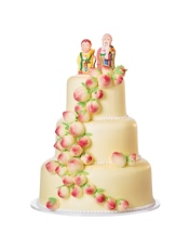 20+30+40cm三层蛋糕 饱满的寿桃,鲜美的奶油,软糯的朗姆提子,阵阵飘香,让老人享受着生日的幸福;