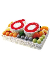 30×20cm方形蛋糕,蛋糕小语:锦绣华堂颂南山,福寿康宁庆华诞。 购买建议:适合祝寿party,长辈生日party。