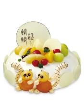 蛋糕小语:丰富的水果把甜蜜的爱情故事,讲述得完美无缺。
