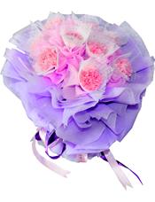 9支粉色康乃馨