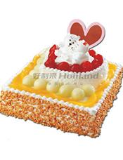 情侣蛋糕,基本型号:双层蛋糕,底层29厘米(约12 寸),上层15厘米(6寸)。