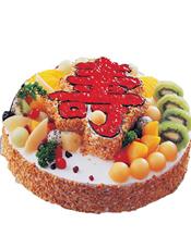 祝寿蛋糕,基本型号:双层蛋糕,底层29厘米(约12 寸),上层20厘米(约8寸)。