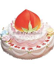 祝寿蛋糕,基本型号:双层蛋糕,底层29厘米(约12 寸),上层20厘米(8寸)。