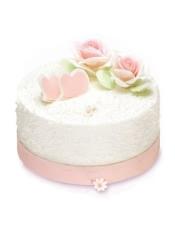 轻芝士蛋糕+玫瑰慕斯夹心