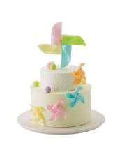上层小朗姆蛋糕 下层(原味戚风蛋糕+酸奶提子夹心)+果仁蛋糕