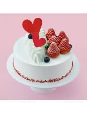 口味:草莓奶油味(原味蛋糕坯+乳脂奶油+鲜草莓)