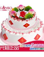 元祖双层祝寿蛋糕,规格:12+8寸,    14+10寸,   16+12寸
